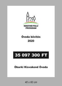 Magyar Falu Program pályázati tábla